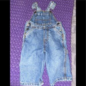 Children's Place 6-9 mos denim overalls